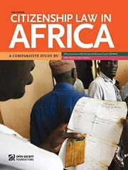 Cover of: Citizenship Law in Africa. a Comparative Study