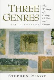 Cover of: Three Genres | Stephen Minot