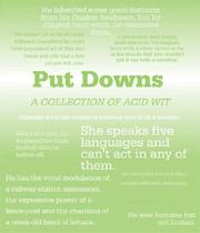 Cover of: Put Downs