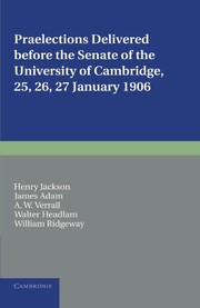 Cover of: Praelections Delivered before the Senate of the University of Cambridge