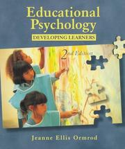 Cover of: Educational psychology | Jeanne Ellis Ormrod