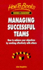 Cover of: Managing Successful Teams