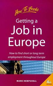 Cover of: Getting a Job in Europe | Mark Hempshell