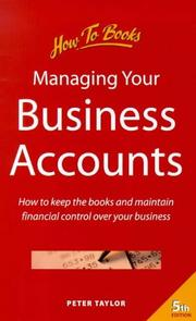 Cover of: Managing Your Business Accounts | Peter Taylor