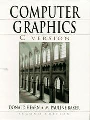 Cover of: Computer graphics, C version | Donald Hearn