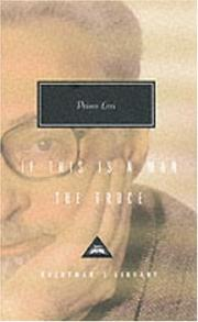 If this is a man by Primo Levi