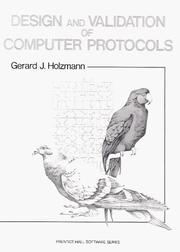 Cover of: Design and validation of computer protocols