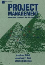 Cover of: Project management | Avraham Shtub