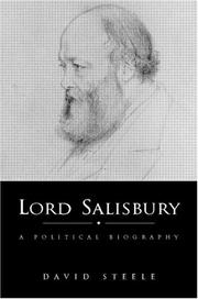 Cover of: Lord Salisbury | E. D. Steele
