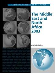 Cover of: The Middle East and North Africa 2003 (Middle East and North Africa) by Eur