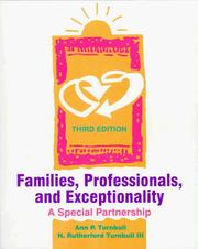 Cover of: Families, professionals, and exceptionality | Ann P. Turnbull
