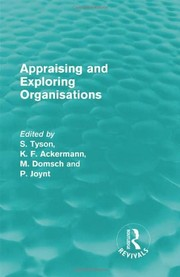 Cover of: Appraising and Exploring Organisations