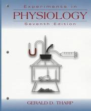 Cover of: Experiments in Physiology | Gerald D. Tharp