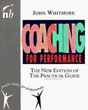 Cover of: Coaching for performance | Whitmore, John Sir