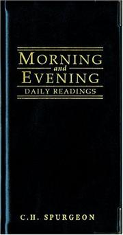 Cover of: Morning and Evening (Daily Readings) |