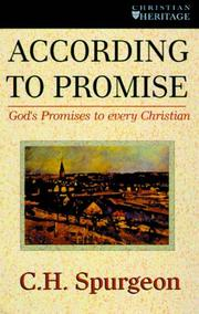 Cover of: According to promise: Or, the Lord's method of dealing with His chosen people