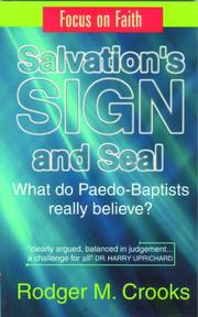 Cover of: Salvations Sign and Seal | Robert Crooks