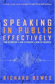 Cover of: Speaking in Public-Effectively