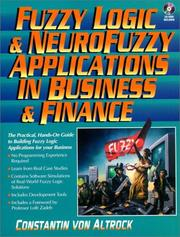 Cover of: Fuzzy logic and neuroFuzzy applications in business and finance