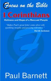 Cover of: Focus on the Bible - 1st Corinthians (Focus on the Bible Commentaries)