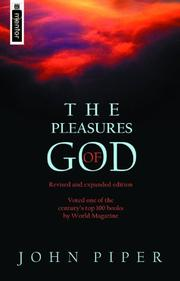 Cover of: The Pleasures of God | John Piper