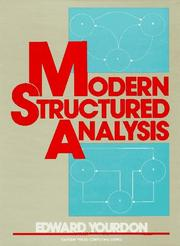 Cover of: Modern structured analysis