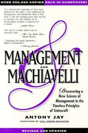 Management and Machiavelli by Antony Jay
