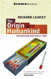 Cover of: The Origin of Humankind (Science Masters)