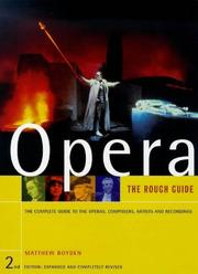 Cover of: The Rough Guide to Opera