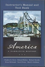 Cover of: America A Narrative History 8th Edition Instructor's Manual & Test Bank