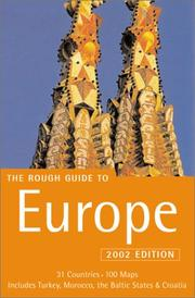 Cover of: The Rough Guide to Europe 2002 (Rough Guide Europe)