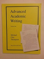Cover of: Advanced Academic Writing Vol 1 Student Manual