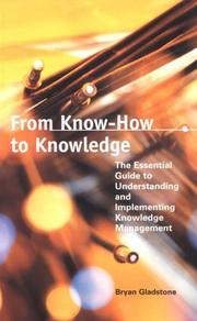 Cover of: From Know-How to Knowledge