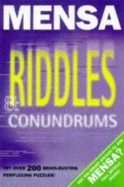 Cover of: Mensa Riddles & Conundrums