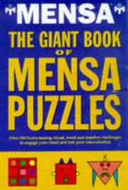 Cover of: Giant Book of Mensa Puzzles