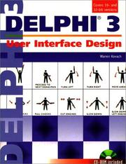 Cover of: Delphi 3 | Warren Kovach