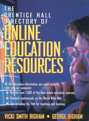Cover of: The Prentice Hall directory of online education resources | Vicki Smith Bigham