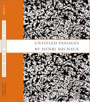 Cover of: Untitled Passages by Henri Michaux