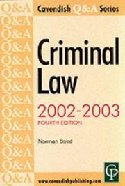 Cover of: Q & A Series Criminal Law (Q & A)