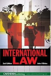 Cover of: International Law | O