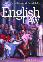 Cover of: English Law