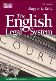 Cover of: The English Legal System 7/e | Slapper & Kelly
