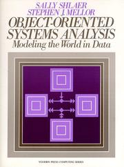 Cover of: Object-oriented systems analysis | Sally Shlaer