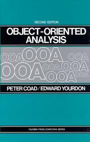 Cover of: Object-oriented analysis | Peter Coad