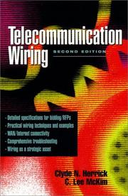 Cover of: Telecommunication wiring | Clyde N. Herrick