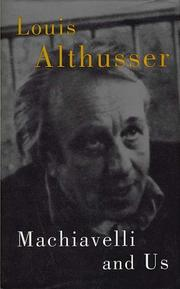 Cover of: Machiavelli and Us | Louis Althusser
