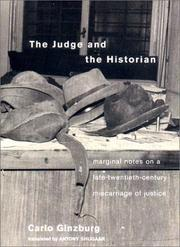 Cover of: The Judge and the Historian