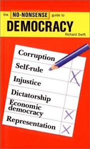 Cover of: The No-Nonsense Guide to Democracy (The No-Nonsense Guides)