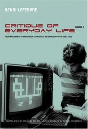 Cover of: Critique of Everyday Life, Volume III