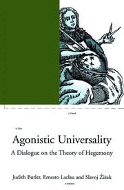 Cover of: Contingency, hegemony, universality